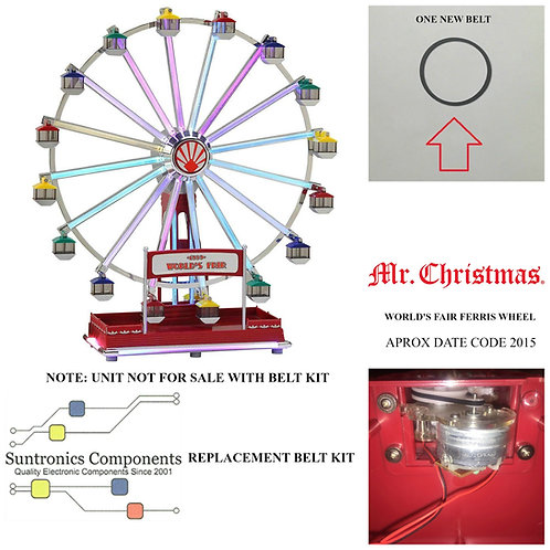 MR. CHRISTMAS 1939 WORLD'S FAIR FERRIS WHEEL  REPLACEMENT BELT KIT