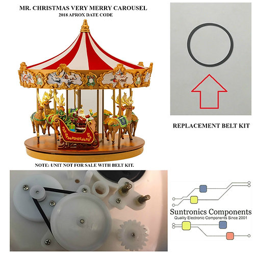 MR. CHRISTMAS VERY MERRY CAROUSEL  REPLACEMENT BELT KIT