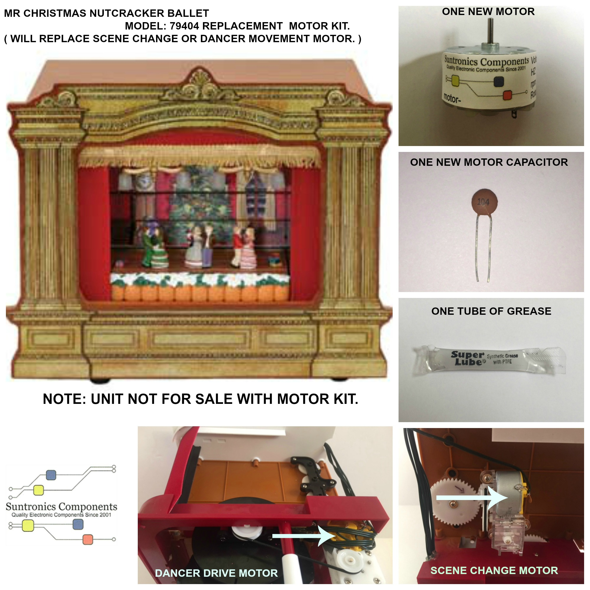 PicMonkey Image MR CHRISTMAS NUTCRACKER BALLET MODEL 79404 DANCER OR SCENE CHANGE MOTOR KIT.JPG