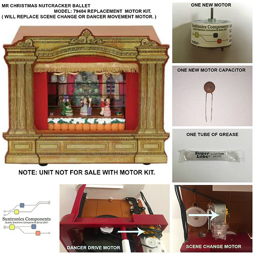 MR CHRISTMAS -NUTCRACKER BALLET  -REPLACEMENT PART - MOTOR KIT