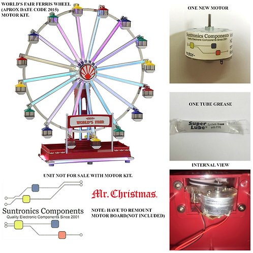 MR. Christmas World's Fair Ferris Wheel Motor K
