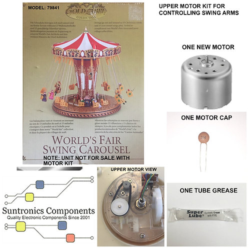 MR CHRISTMAS -World's Fair Swing Carousel  -REPLACEMENT PART -UPPER MOTOR KIT