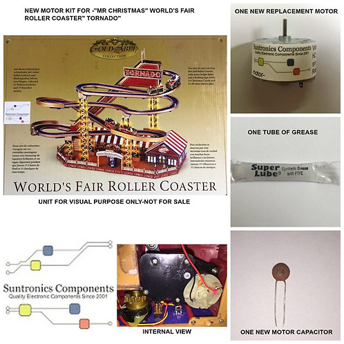 Mr Christmas World's fair Roller Coaster Tornado- -REPLACEMENT PART - MOTOR KIT