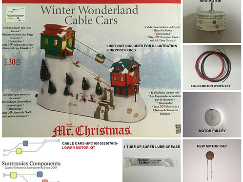 Mr Christmas Winter Wonderland  Cable Cars - REPLACEMENT PARTS -LOWER MOTOR KIT