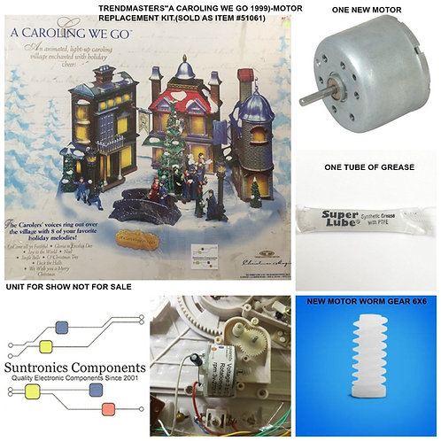 "Trendmasters""A Caroling We Go"" Model#51061 Replacement Motor Kit"
