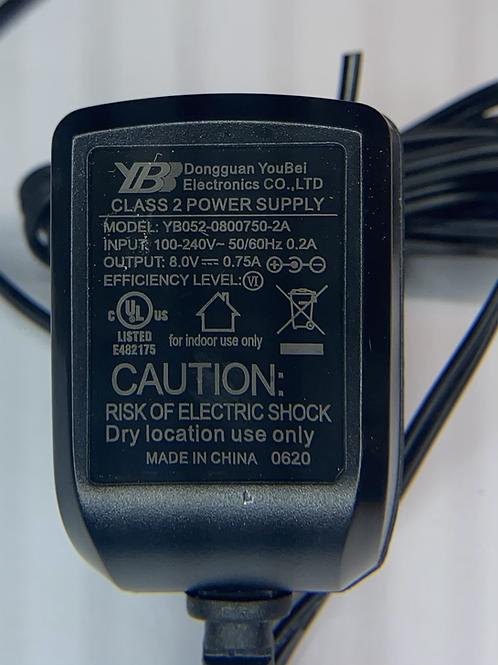 8vDC @750ma 2.1mm female adapter