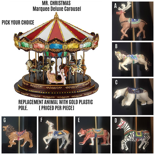 MR. CHRISTMAS ROYAL MARQUEE DELUXE CAROUSEL REPLACEMENT