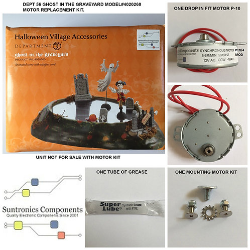DEPT 56  Ghost In The Graveyard-model:4020260- REPLACEMENT MOTOR -PARTS KIT