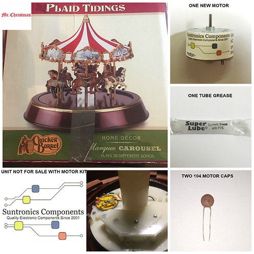 MR. Christmas Plaid Tidings Carousel Motor KIt