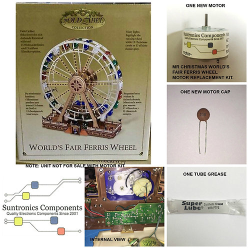 Mr Christmas Worlds Fair Ferris Wheel (Gold Label)-MOTOR KI