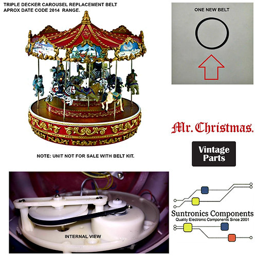 Mr. Christmas Triple Decker Carousel  DRIVE BELT PART