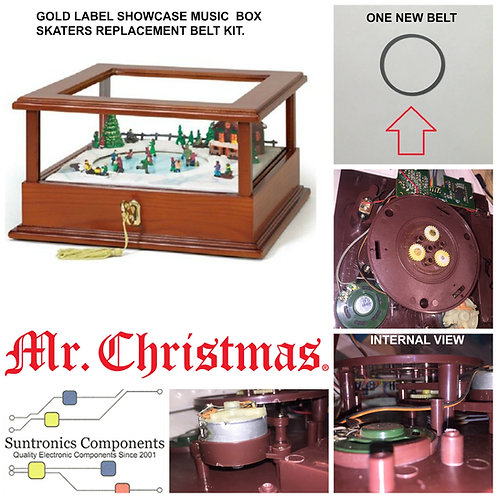 MR. CHRISTMAS GOLD LABEL SHOWCASE MUSIC BOX SKATER  REPLACEMENT BELT KIT