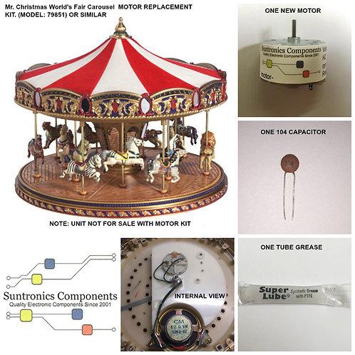 Mr. Christmas World's Fair Carousel model 79851 or Similar motor kit.