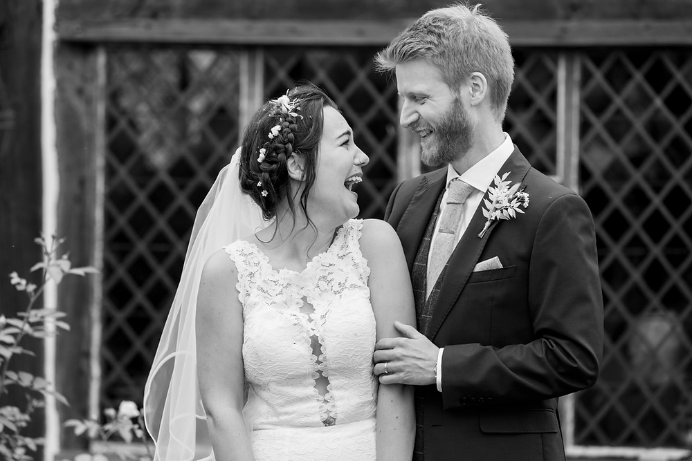 Married couple black and white Wedding photography Sussex