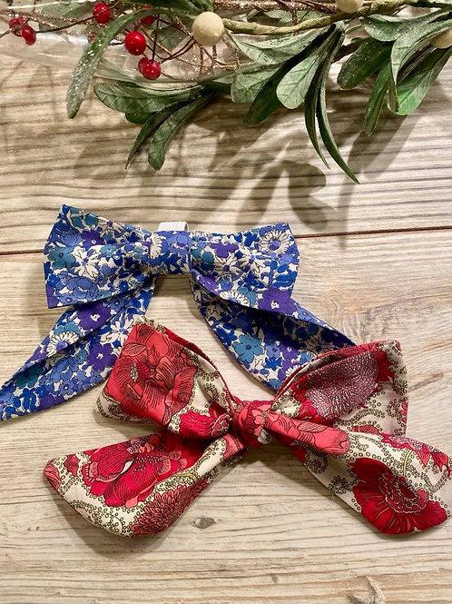 Liberty Flowered Cotton Lawn Bows