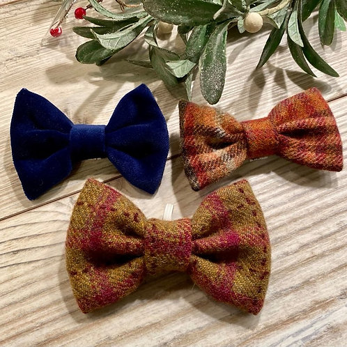 Tartan Wool & Velvet Bow Ties