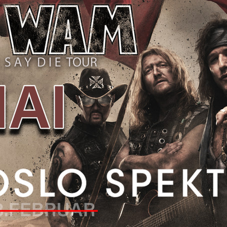 WIG WAM OSLO SPEKTRUM POSTPONED TO MAY 1