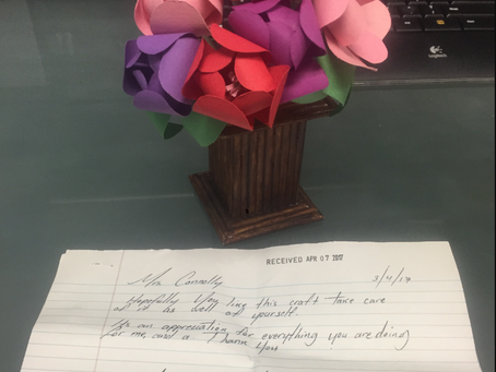 Handwritten notes and Flowers!