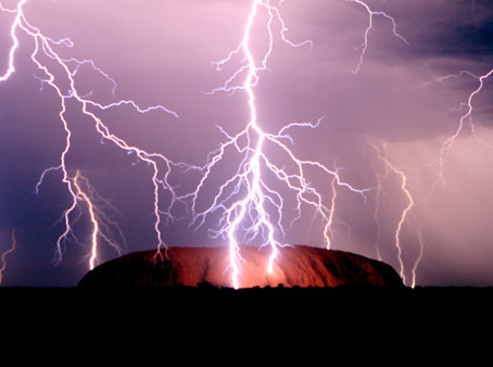 Flash Storm at Uluru