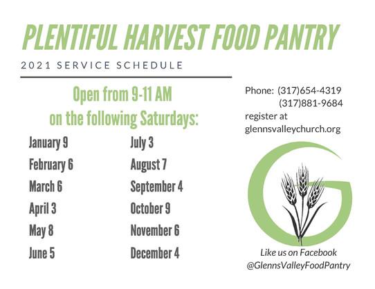Plentiful Harvest Food Pantry 2021
