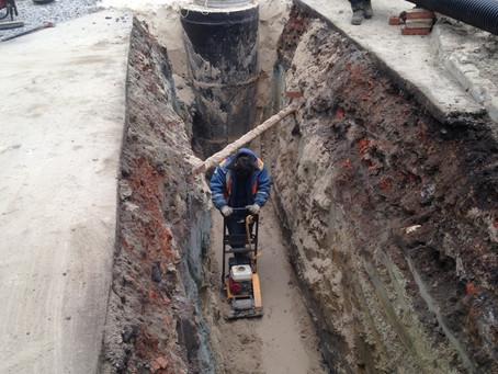 """Завершены работы по выносу канализации из под пятна застройки.  Заказчик """"СПб Реновация"""""""