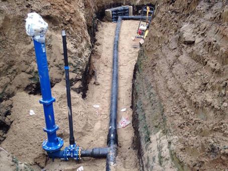 Завершены строительно-монтажные работы по устройству наружных сетей водопровода и канализации на объ