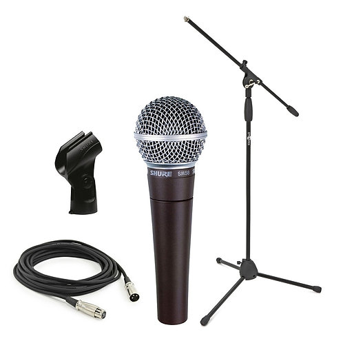 Wired Microphone w/ Floor Stand
