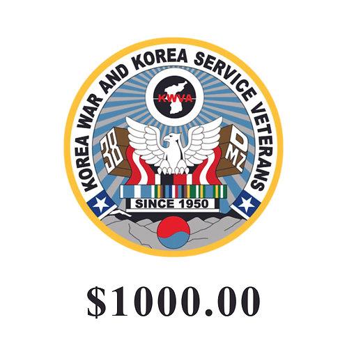 DONATION $1000.00