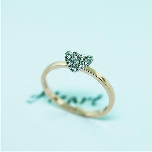 Trinity Heart Diamond Ring
