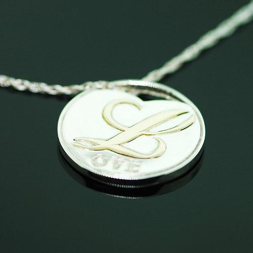 Golden Love Coin Pendant