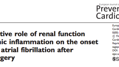 Nuova pubblicazione - The predictive role of renal function and systemic inflammation on the onset o