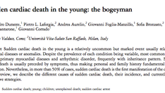 Nuova pubblicazione: Morte improvvisa nei giovani