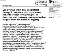 Nuova pubblicazione sulla durata della terapia antiaggregante nei pazienti con infarto