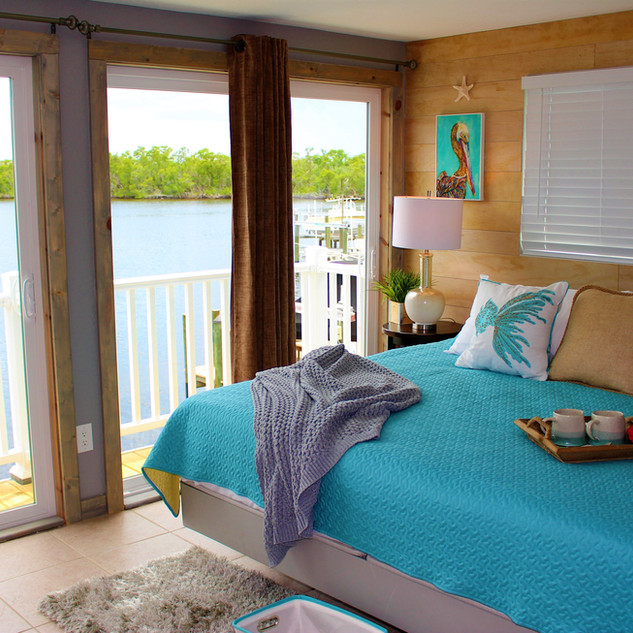 Apartment Suite Bedroom with Waterview & Private Deck