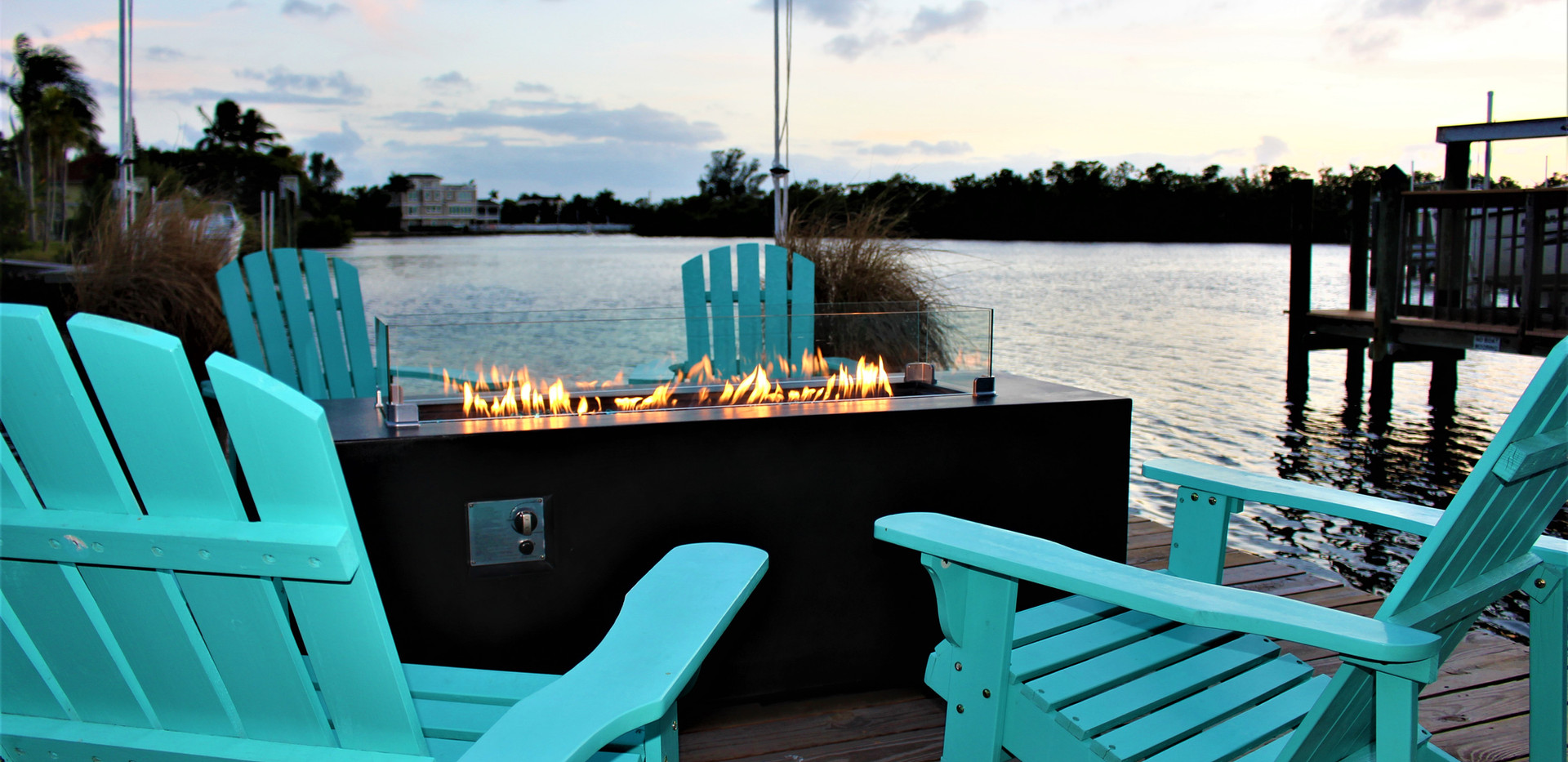 Fire Table on the dock