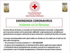 """La Croce Rossa Italiana a supporto di Lizzano in occasione del virus """"Corona"""""""