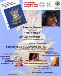 """Serena Vestene alla """"Casa delle Artiste """" di Milano"""