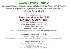 ROMA - Musica nel bosco in presenza