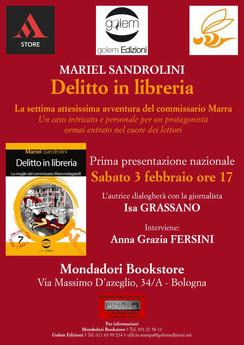 """Presentazione del libro """"Delitto in libreria"""" di Mariel Sandrolini"""