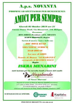 Evento solidale al Tivoli il 3 ottobre