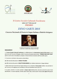 """Concorso Nazionale di Poesia """"Premio Dino Sarti"""": Bando e Condizioni."""