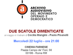 "Documentario ""Due scatole dimenticate"" - Cimena Farnese Roma"