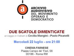 """Documentario """"Due scatole dimenticate"""" - Cimena Farnese Roma"""