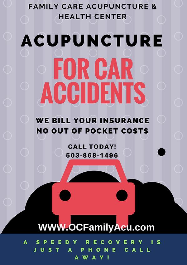 Car Accident, Oregon City, Acupunture, Natalie Mich