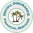 nicoll insurance logo with transparent m