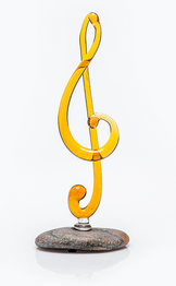 Glass treble clef