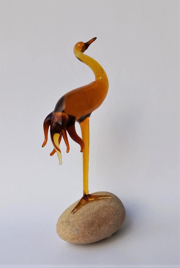 Amber glass bird