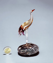 Rose gold heron figurine