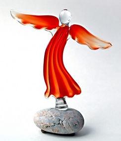 Angelas | Stiklo kūriniai | Simbolinės dovanos | Krikšto dovana | Komunijos dovana