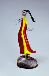 Woman glass sculpture